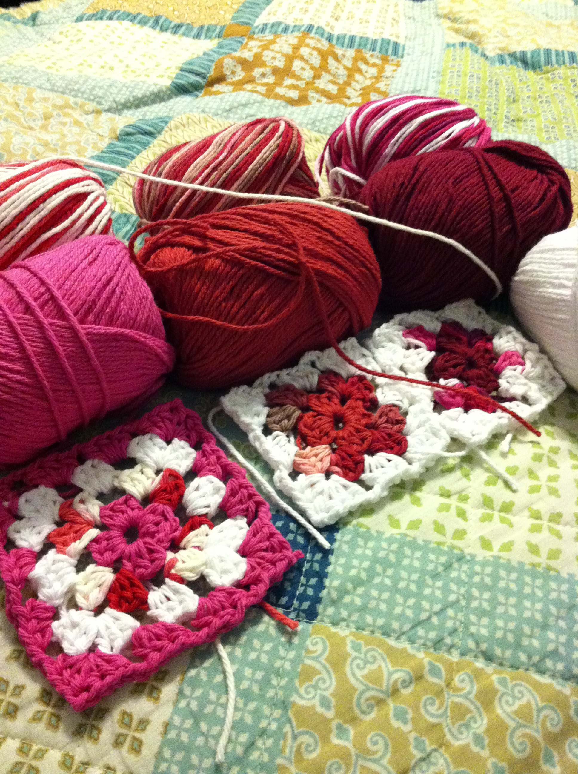 Finished Crochet Projects Valentine S Day Table Runner Nicostuff Com
